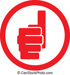 hand showing thumbs up symbol (human hand giving ok label,...