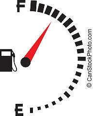 gas gauge (gas tank, gas gage)