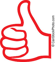 hand giving ok vector hand showing thumbs up, hand gesture...