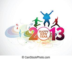 nouveau, année, 2013, fond