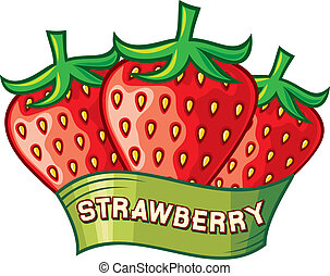 strawberry label design (strawberry symbol)