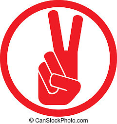 the victory symbol (victory hand gesture, victory symbol,...
