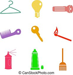 household shapes - collection of everyday household shapes...