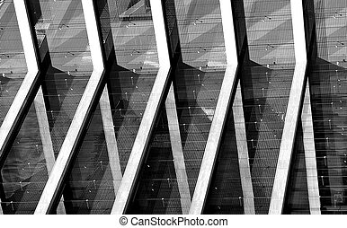 Non figurative - The pillars of a building of Budapest Egy...
