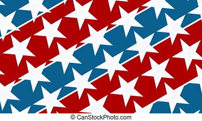 Stars and Stripes Looping Backdrop