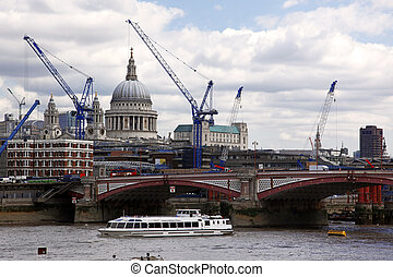 Blackfriars bridge and St Pauls cathedral