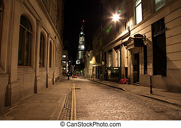 Night Street in London, UK