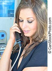 Telephone box - Making a call on a public telephone