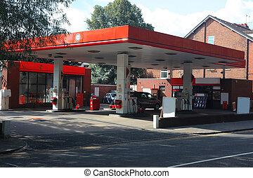 modern gas station