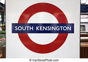 LONDON June 6: Close up of a traditional station sign South...