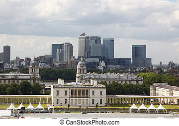 City of London, England from Greenwich Observatory,  UK