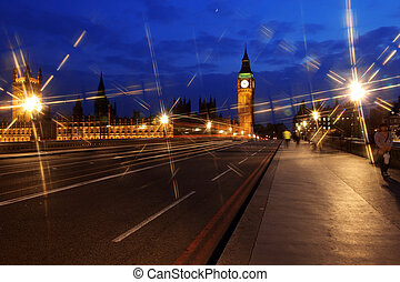 Big Ben and the House of Parliament at night, London, UK
