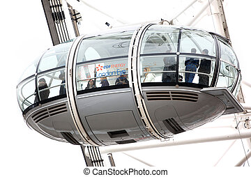 LONDON, UNITED KINGDOM - JUNE 6: London Eye on June 6, 2011...