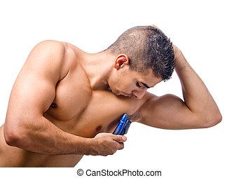 Metrosexual - Shaving armpit of young man
