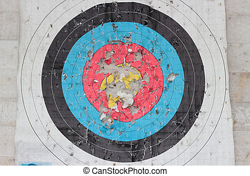 archery target - Dilapidated archery target close up