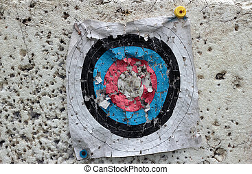 archery target - Dilapidated archery target, sport concept