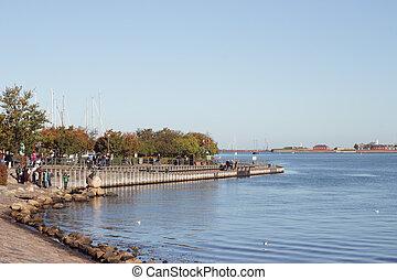 little mermaid - COPENHAGEN, DENMARK - OCTOBER 2012 : People...