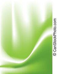 green swoop - Flowing fluid background in green with copy...