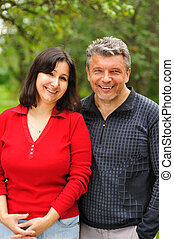 Mature couple - Happy mature couple outdoors portrait