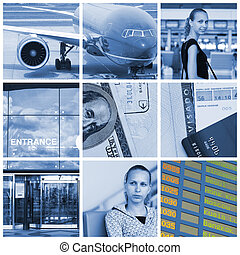 Travel collage - Collage with travel and transport concept