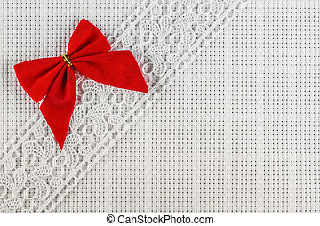 fabrics for embroidery a cross, lace and ribbons - canvas...