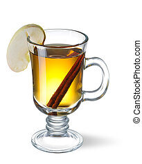 Cider - Hot cider isolated on white with shadow