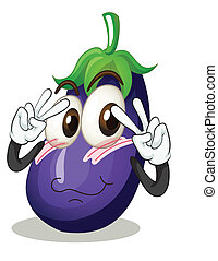 brinjal - illustration of a brinjal on a white background
