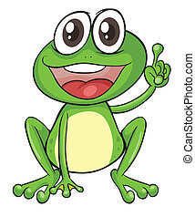 a frog - illustration of a frog on a white background