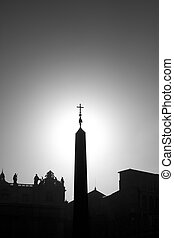 Cross on stella in Vatican silhouette version