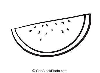 water melon slice - detalied illustration of watermelon...