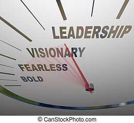 Leadership Speedometer Vision Fearless Bold Direction - The...