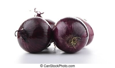 Red onion rotating