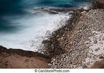 Remote beach scene