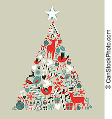 Christmas icons pine tree - Christmas icons in pine tree...