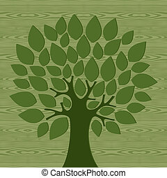 Eco friendly conceptTree - Eco friendly tree over wooden...