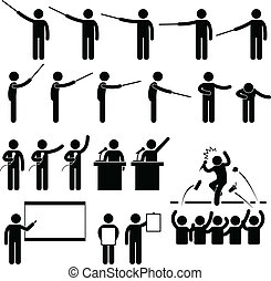 Speaker Presentation Teaching - A set of pictograms...