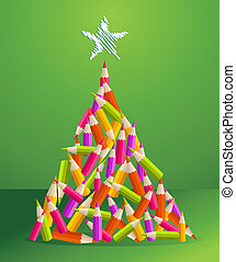Design and art pencils Christmas tree - Design and art...