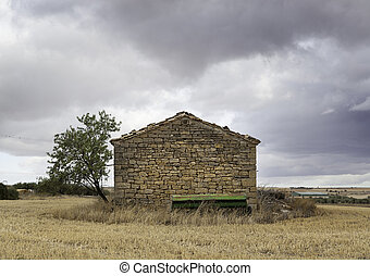 Old Stone House - Old stone house in the middle of the field...