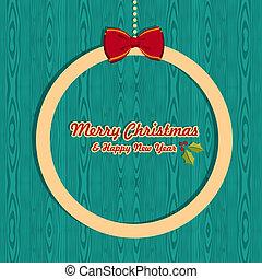 Natal,  retro, cartão, Saudação