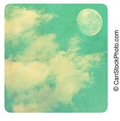 Vintage background sky.