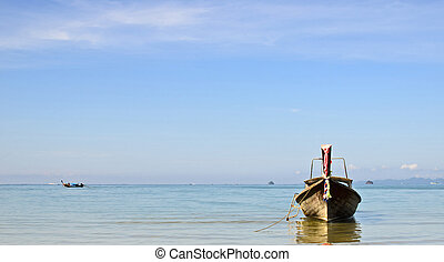 Long tail boat at Aonang Krabi - This is a landscape photo...