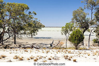 Outback Lake - Remote Popiltah Lake in the Australian...