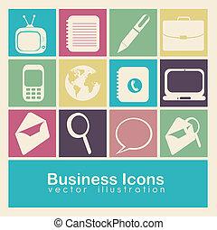 empresa / negocio, iconos