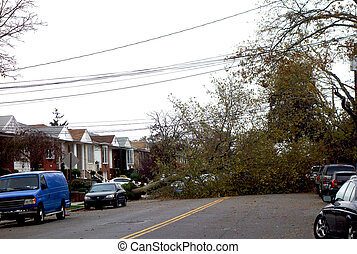Hurricane Sandy destruction - BROOKLYN, NY -OCTOBER 30:...