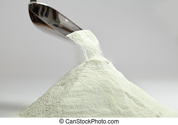 Milk powder - Collection dairy milk powder isolated over...