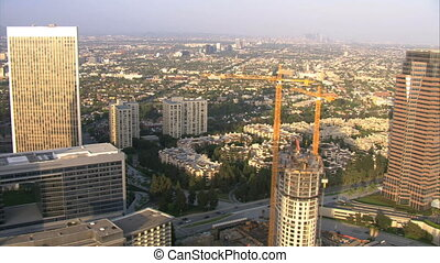 Los Angeles Aerials - Flying thru downtown Los Angeles