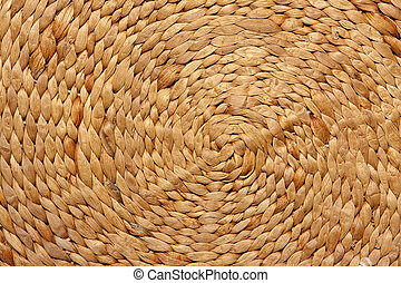 Straw background - Intertwined natural straw background