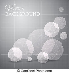 Gray blueprint if geometrical figure. Vector illustration.