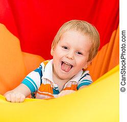 funny playful kid boy