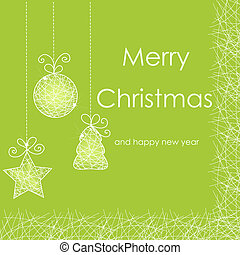 Beautiful Christmas card with Christmas decorations